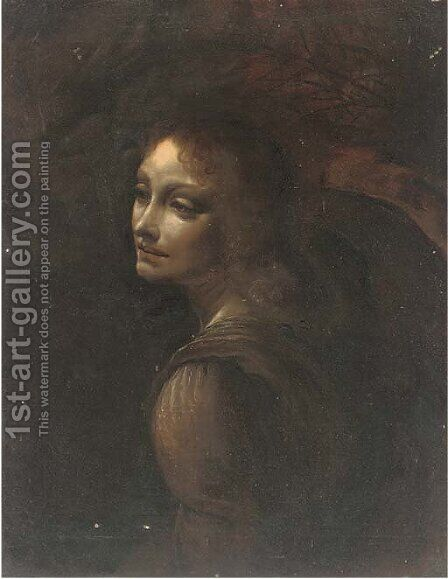 Head of an angel by (after) Leonardo Da Vinci - Reproduction Oil Painting