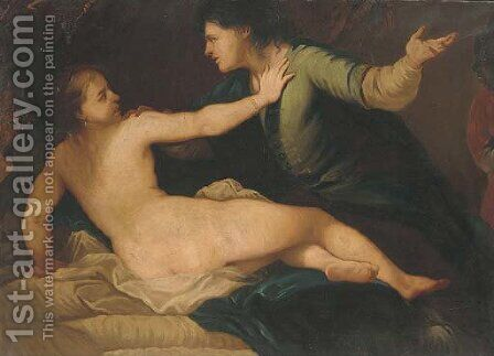 The Rape of Lucretia by (after) Luca Giordano - Reproduction Oil Painting