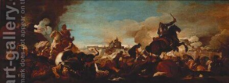 The Capture of the Admiral of France by (after) Luca Giordano - Reproduction Oil Painting