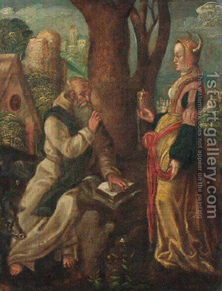 The Temptation of Saint Anthony by (after) Lucas Van Leyden - Reproduction Oil Painting