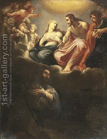 The Vision of Porziuncola by (after) Ludovico Carracci - Reproduction Oil Painting