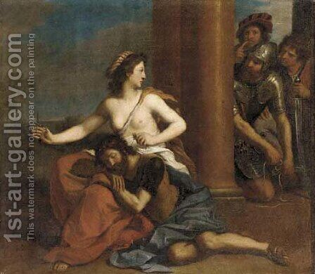 Samson and Delilah by Giovanni Francesco Guercino (BARBIERI) - Reproduction Oil Painting