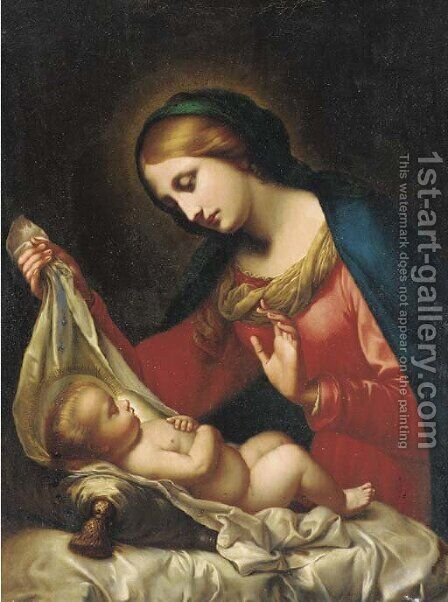 The Madonna and Child by (after) Onorio Marinari - Reproduction Oil Painting