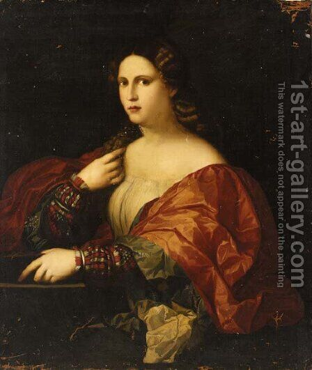 La Bella by (after) Jacopo D'Antonio Negretti (see Palma Vecchio) - Reproduction Oil Painting