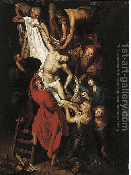The Descent from the Cross by (after) Rubens, Peter Paul - Reproduction Oil Painting