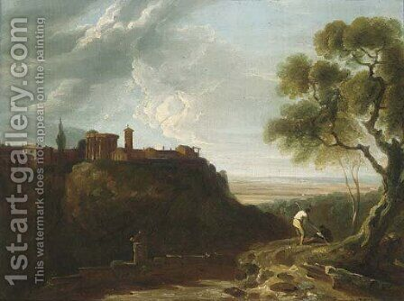 Tivoli, the Temple of the Sibyl and the campagna by (after) Richard Wilson - Reproduction Oil Painting