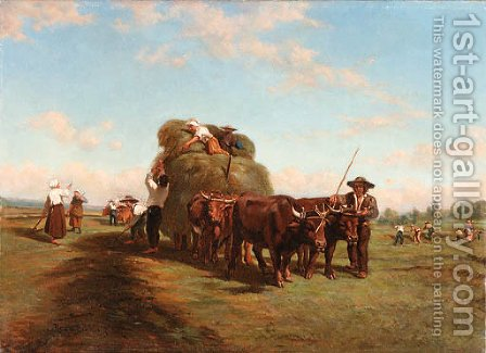 Untitled by (after) Rosa Bonheur - Reproduction Oil Painting