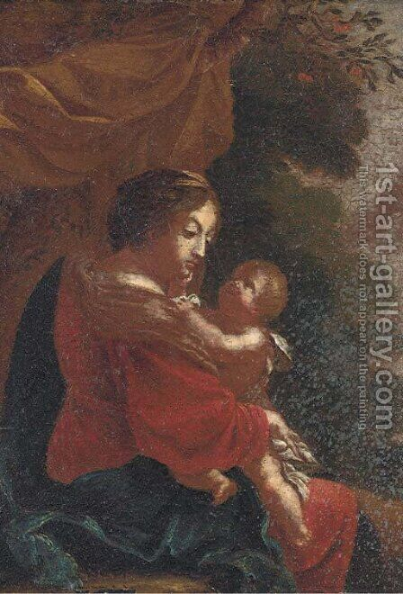 The Virgin and Child by (after) Simon Vouet - Reproduction Oil Painting