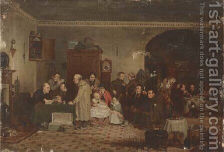 Rent Day by (after) Sir David Wilkie - Reproduction Oil Painting