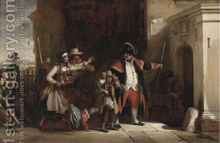 The parish beadle by (after) Sir David Wilkie - Reproduction Oil Painting