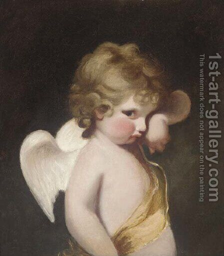Cupid by (after) Sir Joshua Reynolds - Reproduction Oil Painting