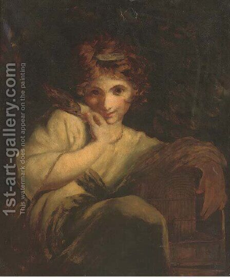 Robinetta 2 by (after) Sir Joshua Reynolds - Reproduction Oil Painting