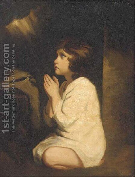 Samuel, the infant by (after) Sir Joshua Reynolds - Reproduction Oil Painting