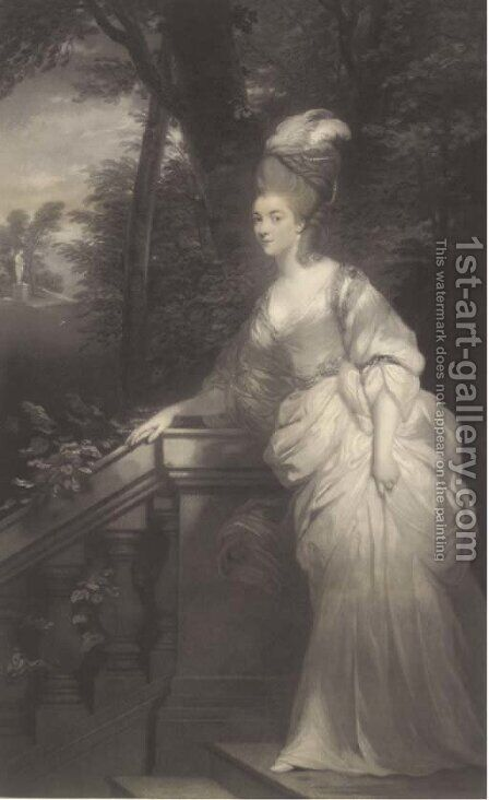 Georgiana, Duchess of Devonshire by (after) Sir Joshua Reynolds - Reproduction Oil Painting