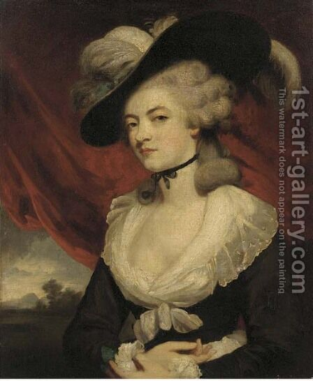 Portrait of Mrs Robinson by (after) Sir Joshua Reynolds - Reproduction Oil Painting
