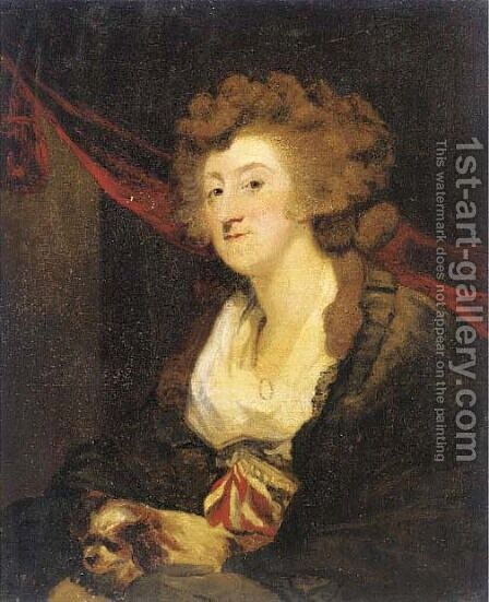 Portrait of Amelia, Lady Hume by (after) Sir Joshua Reynolds - Reproduction Oil Painting