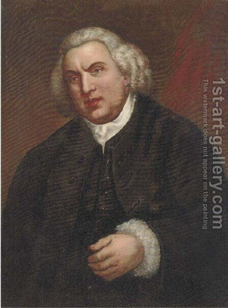 Portrait of Samuel Johnson (1709-1784) by (after) Sir Joshua Reynolds - Reproduction Oil Painting