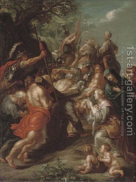 Christ on the Road to Calvary by (after) Sir Peter Paul Rubens - Reproduction Oil Painting