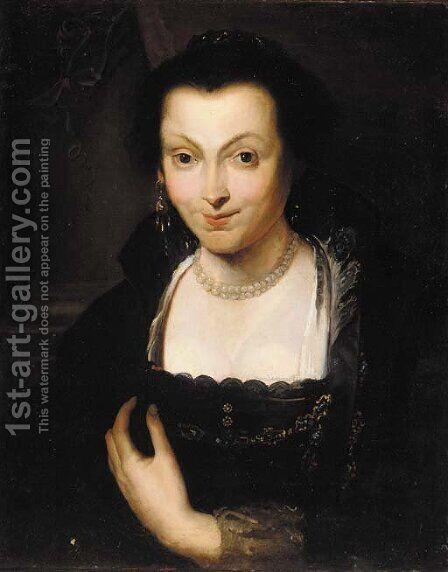 Portrait of Isabella Brandt by (after) Sir Peter Paul Rubens - Reproduction Oil Painting