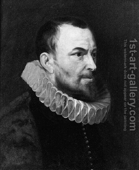 Portrait of Nicolaes Rockox (1560-1640) , half length, in profile to the right, wearing a dark costume and a molenkraag by (after) Sir Peter Paul Rubens - Reproduction Oil Painting