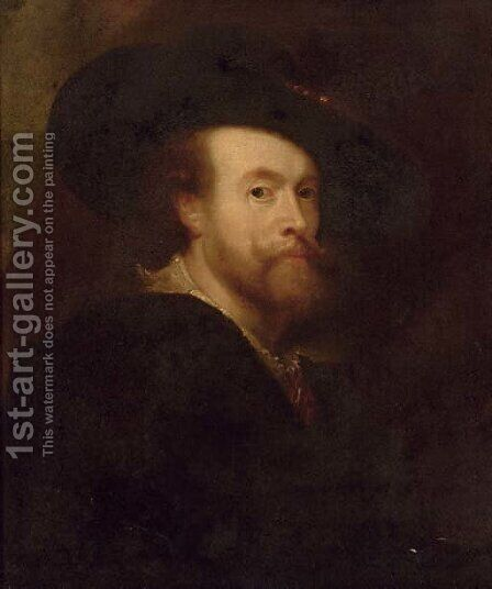 Self-Portrait of the artist by (after) Sir Peter Paul Rubens - Reproduction Oil Painting