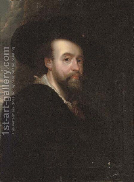 Self-portrait of the artist 2 by (after) Sir Peter Paul Rubens - Reproduction Oil Painting