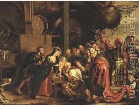 The Adoration of the Magi by (after) Sir Peter Paul Rubens - Reproduction Oil Painting