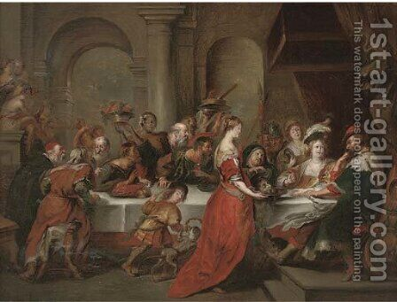 The Feast of Herod by (after) Sir Peter Paul Rubens - Reproduction Oil Painting
