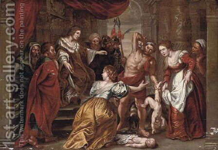 The Judgement of Solomon by (after) Sir Peter Paul Rubens - Reproduction Oil Painting