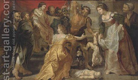 The Judgement of Solomon 3 by (after) Sir Peter Paul Rubens - Reproduction Oil Painting