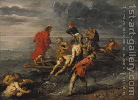 The Miraculous Draught of Fishes by (after) Sir Peter Paul Rubens - Reproduction Oil Painting