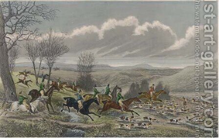 Hare hunting by (after) Hodges, Walter Parry - Reproduction Oil Painting