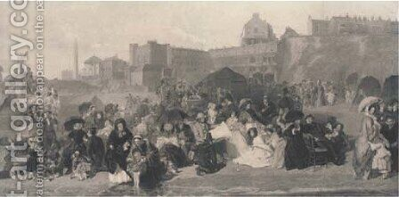 Life at the Seaside, Ramsgate 1854, by C. W. Sharp by (after) Frith, William Powell - Reproduction Oil Painting