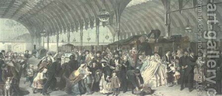 The Railway Station, by F.Holl by (after) Frith, William Powell - Reproduction Oil Painting