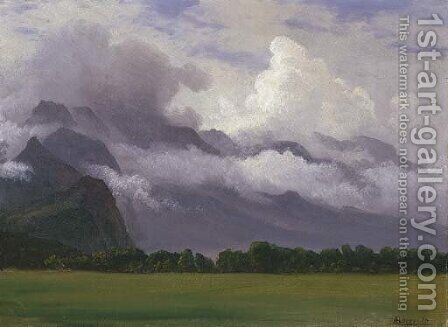Clouds in Owens Valley by Albert Bierstadt - Reproduction Oil Painting