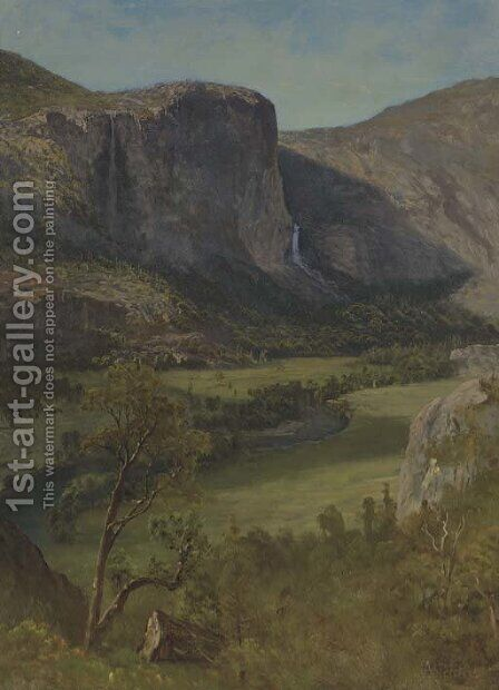 Hetch Hetchy Valley by Albert Bierstadt - Reproduction Oil Painting