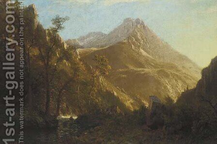 Wasatch Mountains 2 by Albert Bierstadt - Reproduction Oil Painting