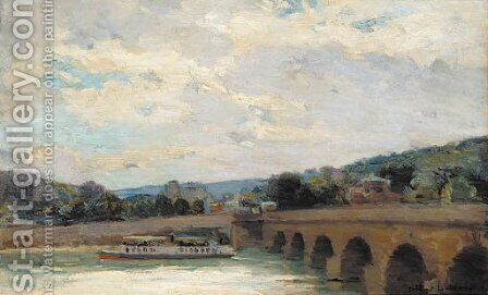 Le pont de Sevres by Albert Lebourg - Reproduction Oil Painting