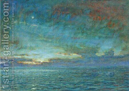 Dawn in the Mediterranean by Albert Goodwin - Reproduction Oil Painting