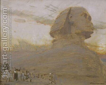 The Sphinx by Albert Goodwin - Reproduction Oil Painting