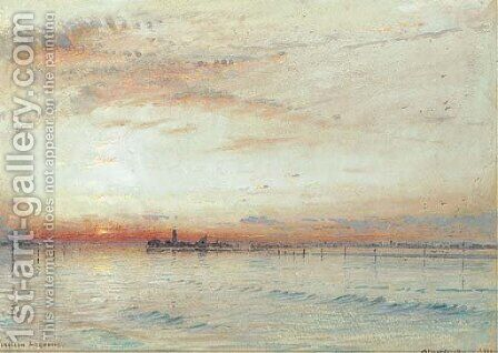 Venetian Lagoons by Albert Goodwin - Reproduction Oil Painting