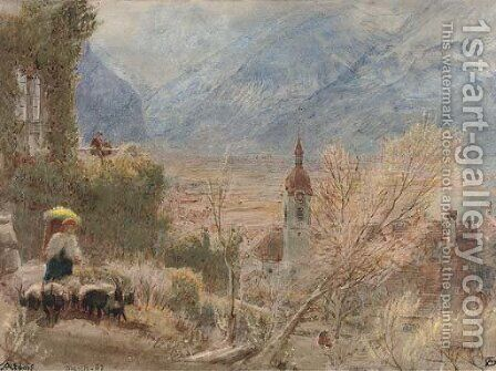 Altdorf, Switzerland by Albert Goodwin - Reproduction Oil Painting