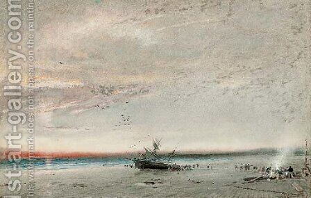Ashore by Albert Goodwin - Reproduction Oil Painting