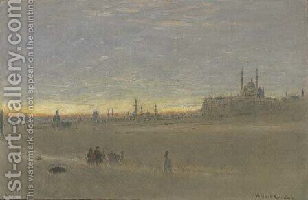 Cairo, Egypt by Albert Goodwin - Reproduction Oil Painting