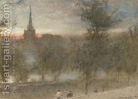 Chichester by Albert Goodwin - Reproduction Oil Painting