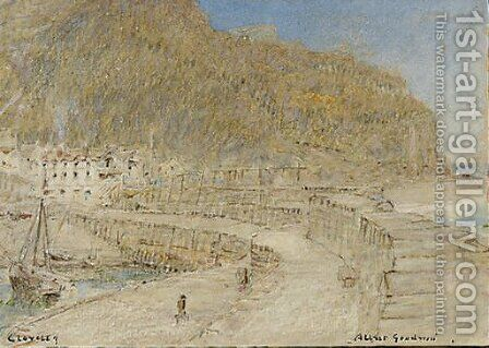 Clovelly by Albert Goodwin - Reproduction Oil Painting