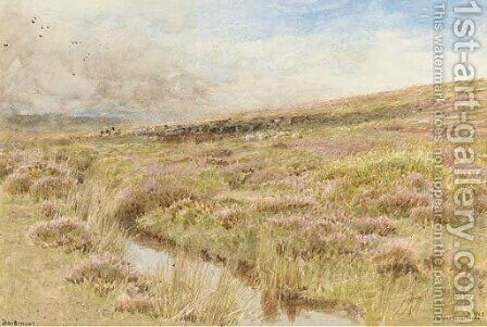 Dartmoor by Albert Goodwin - Reproduction Oil Painting