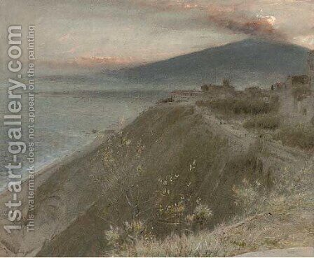 Etna and Taormina by Albert Goodwin - Reproduction Oil Painting