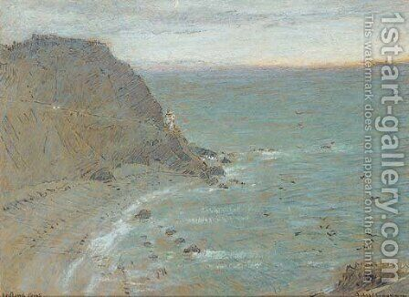 Hartland Point, North Devon by Albert Goodwin - Reproduction Oil Painting
