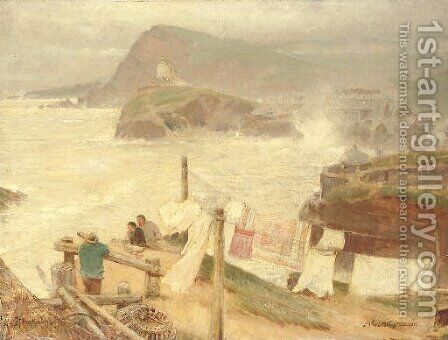 Ilfracombe from Compass Hill by Albert Goodwin - Reproduction Oil Painting